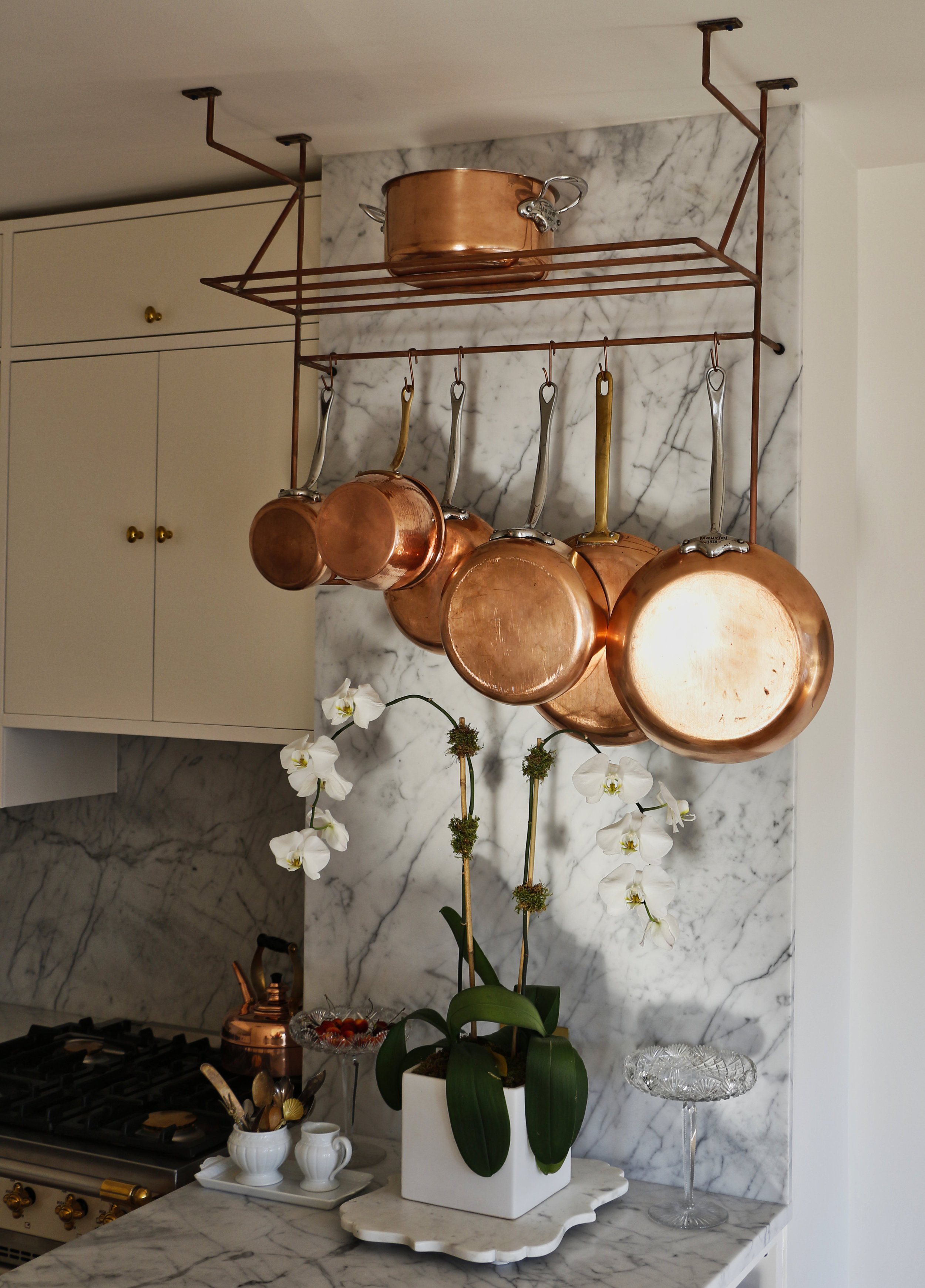 Copper Plated Pot Rack