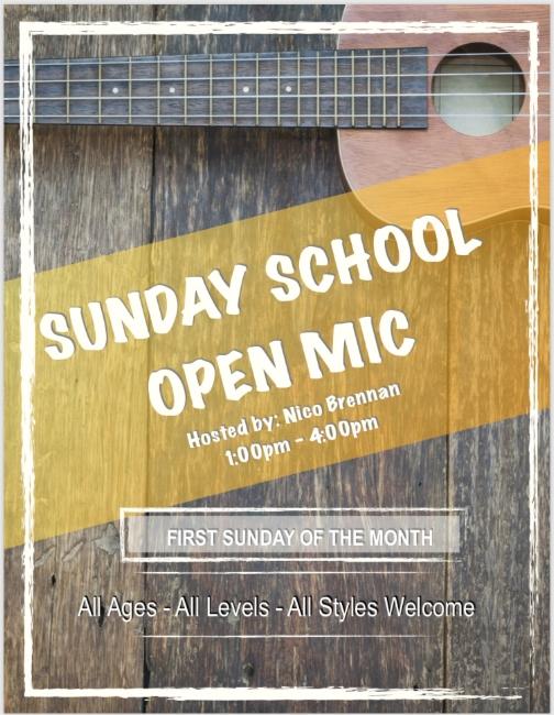 Sunday school Open Mic