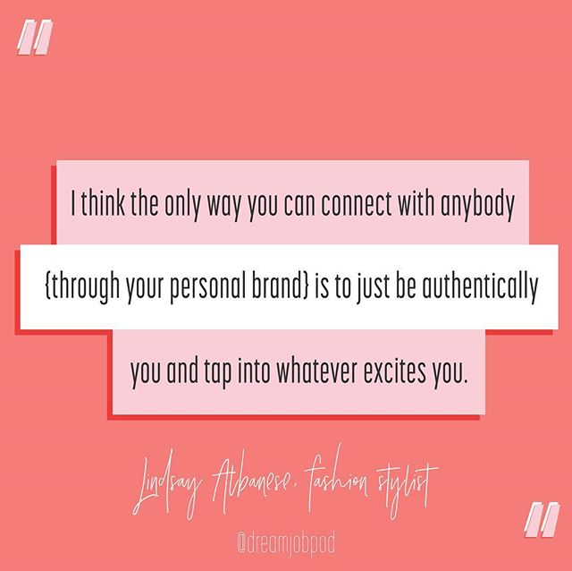 Wise words on personal branding and so much more in the latest episode with @lindsayalbanese. Go listen now! {link in profile}