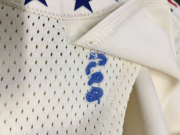 - The segmented snake is also hidden underneath the flap on the shorts of the 'City Edition' uniform, that the team will wear during home playoff games.