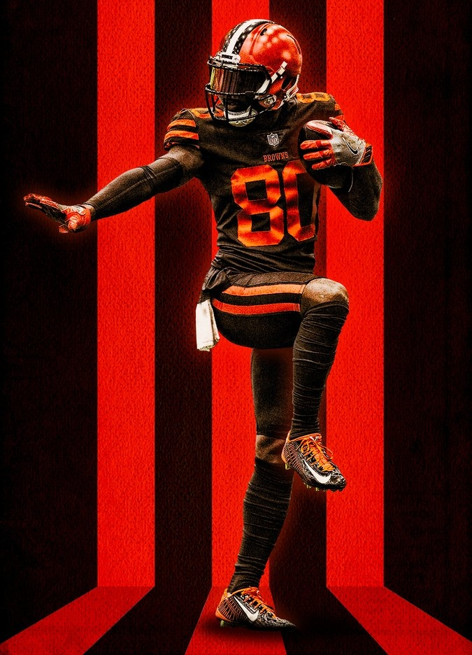 cleveland browns jersey colors