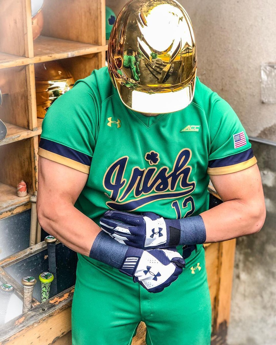sale retailer c4867 3fbe0 Notre Dame Baseball Green Uniform — UNISWAG