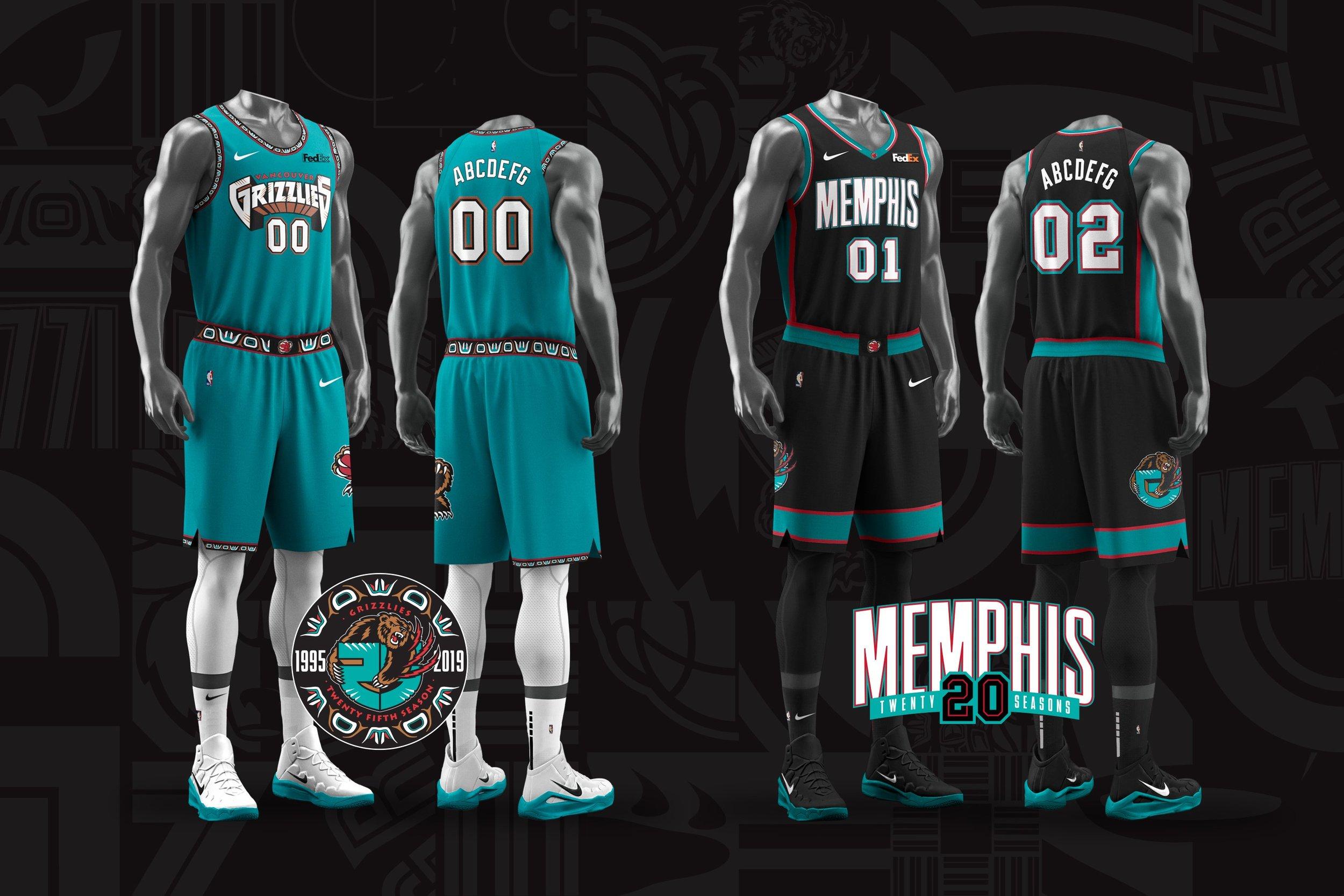 newest 0a8bc 546a2 Memphis Grizzlies 'Classic Edition' Uniforms — UNISWAG