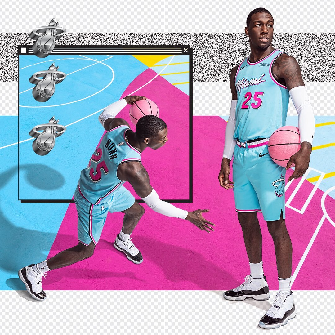 Miami Heat Vice Wave City Edition Uniform Uniswag