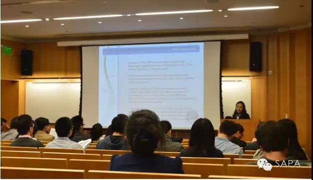 SAPA-DC会长付萌女士介绍SAPA的宗旨及SAPA-DC的组织架构