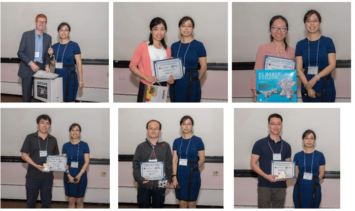 六位获得优胜的Oral & Poster Presenters