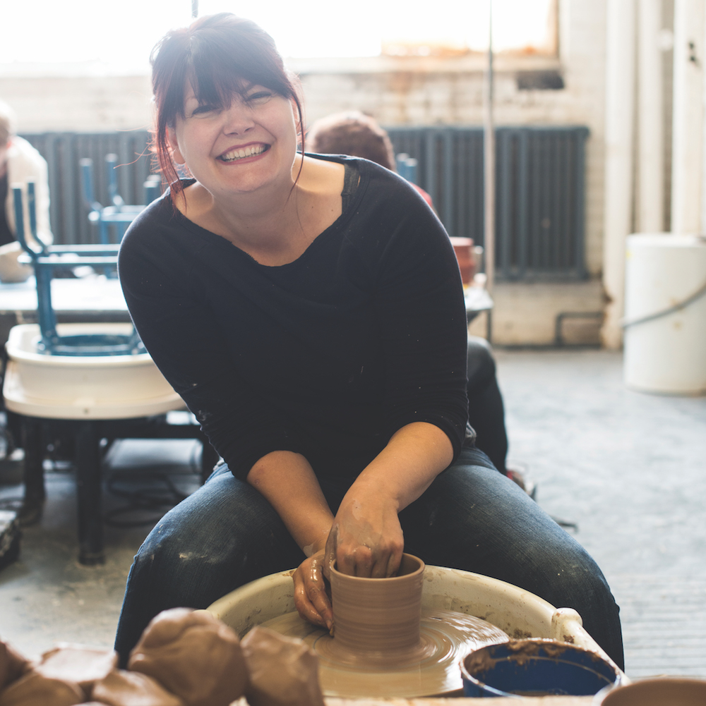 Gina DeSantis Ceramics - Cleveland, Ohio   Gina DeSantis Ceramics strives to create well crafted tableware and home decor. After completing her MFA in ceramics from Kent State University in 2006, Gina went on to become a visual merchandiser in home furnishings while continuing to teach ceramics part time. In 2013 she opened her classroom space in Lakewood, Ohio and since its conception it has become the premier clay classroom in the Cleveland area.   ginadesantisceramics.com