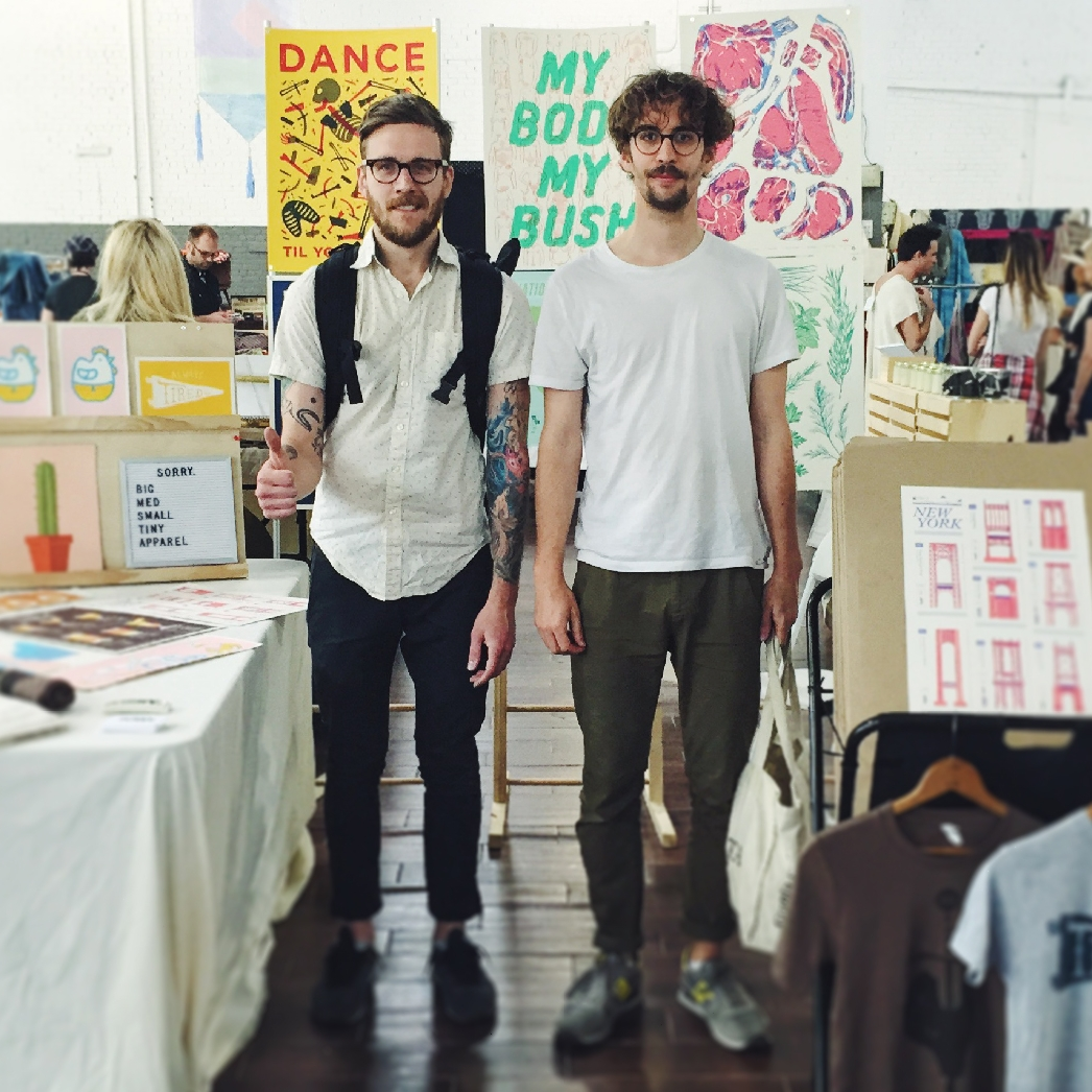 Sorry Studio - Chicago, Illinois / Gunma, Japan   We are two designers/illustrators/printers: Yank Marc Howell and Limey Luke Paisley. Sorry is our way to combine creating well-designed handmade goods and wares, with the unique commmunicative goals of client work.  Sorry is what we say to the landscape of in-vogue visual trends, overreaching client demands, and anything and everything that we think compromises the quality of our work. It is our way of saying  Sorry, this time we're doing our thing.    sorry.design