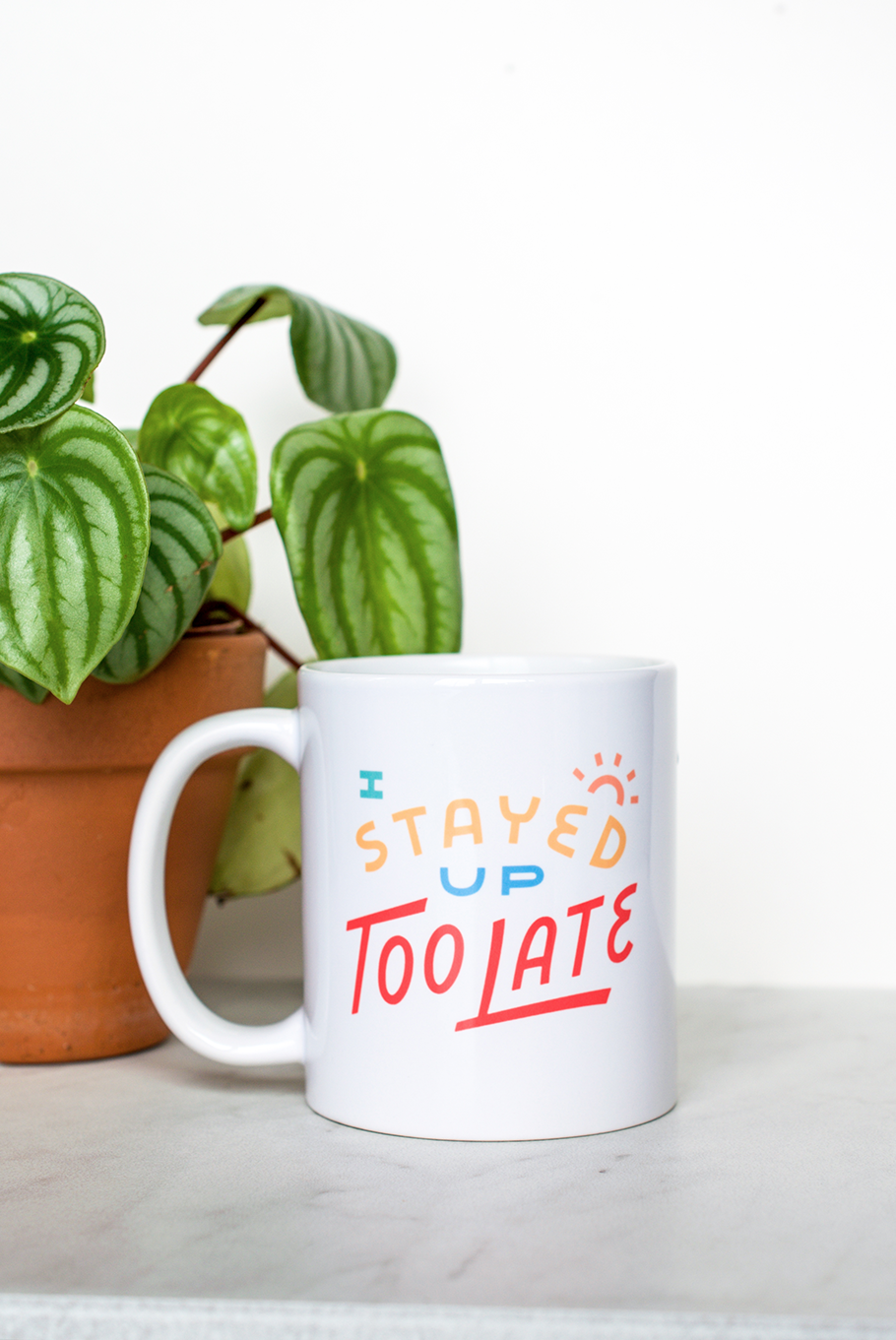 """I Stayed Up Too Late"" mug by Valley Cruise Press"