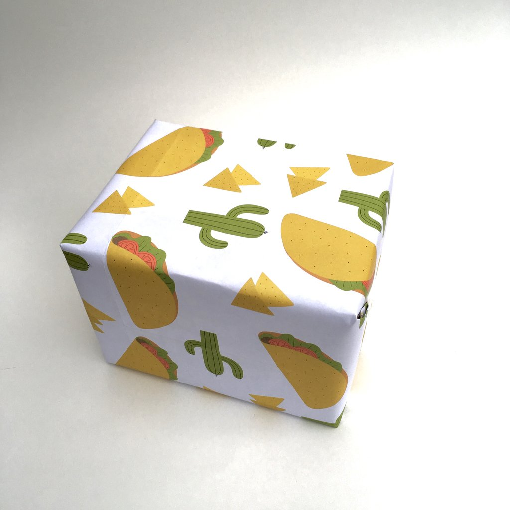 Taco gift wrap 3-packs by Free Period Press