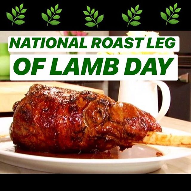 """HAPPY NATIONAL ROAST LEG  OF LAMB DAY!! """"National Roast Leg of Lamb Day is observed each year on May 7."""" Hope you have a great day, however you roast or get roasted!! 🌱🐑 @natdaycal . . . . . #weedandgrub #cannabis #comedy #cooking #weed #food #sex #podcast #bookyourownlife #highlife #420 #edibles #chef #smoke #marijuana #culture #popculture #potculture #legalizeit #livetheleaf #nationalroastlegoflambday #nationaldaycalendar"""