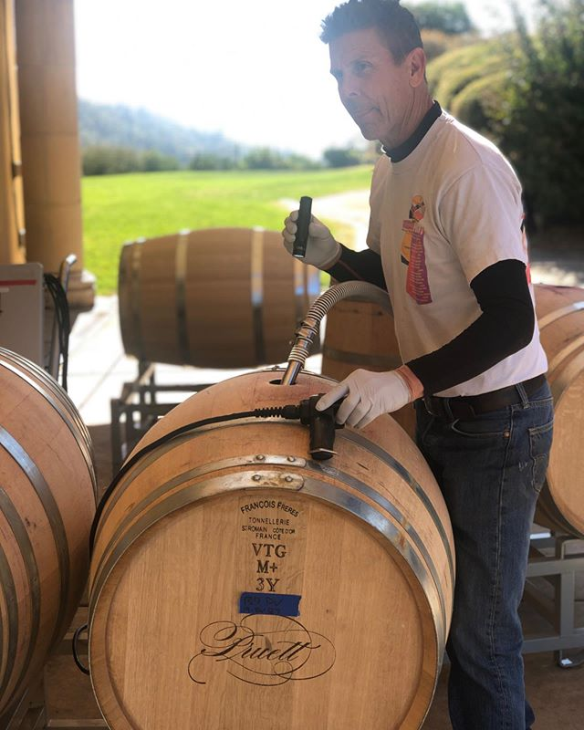 You put the wine in the barrel so we can drink it all up...well, in 22 months that is... Good thing our 2017 vintages just released!! Check out our website to order yours:  Www.pruettvineyard.com  #pruettvineyard  #redwine  #pruettpalate