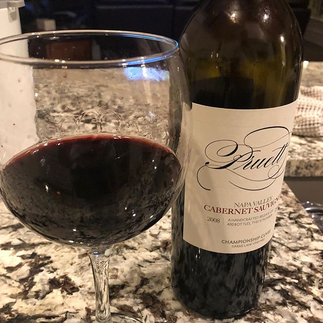 """Does this glass make my wine look big? Thank you for sharing your photos with us! We love seeing you enjoy our wine. The report: """"This 2008 Championship Cuvée is drinking so nice tonight"""". Cheers and Happy Friday everyone!"""