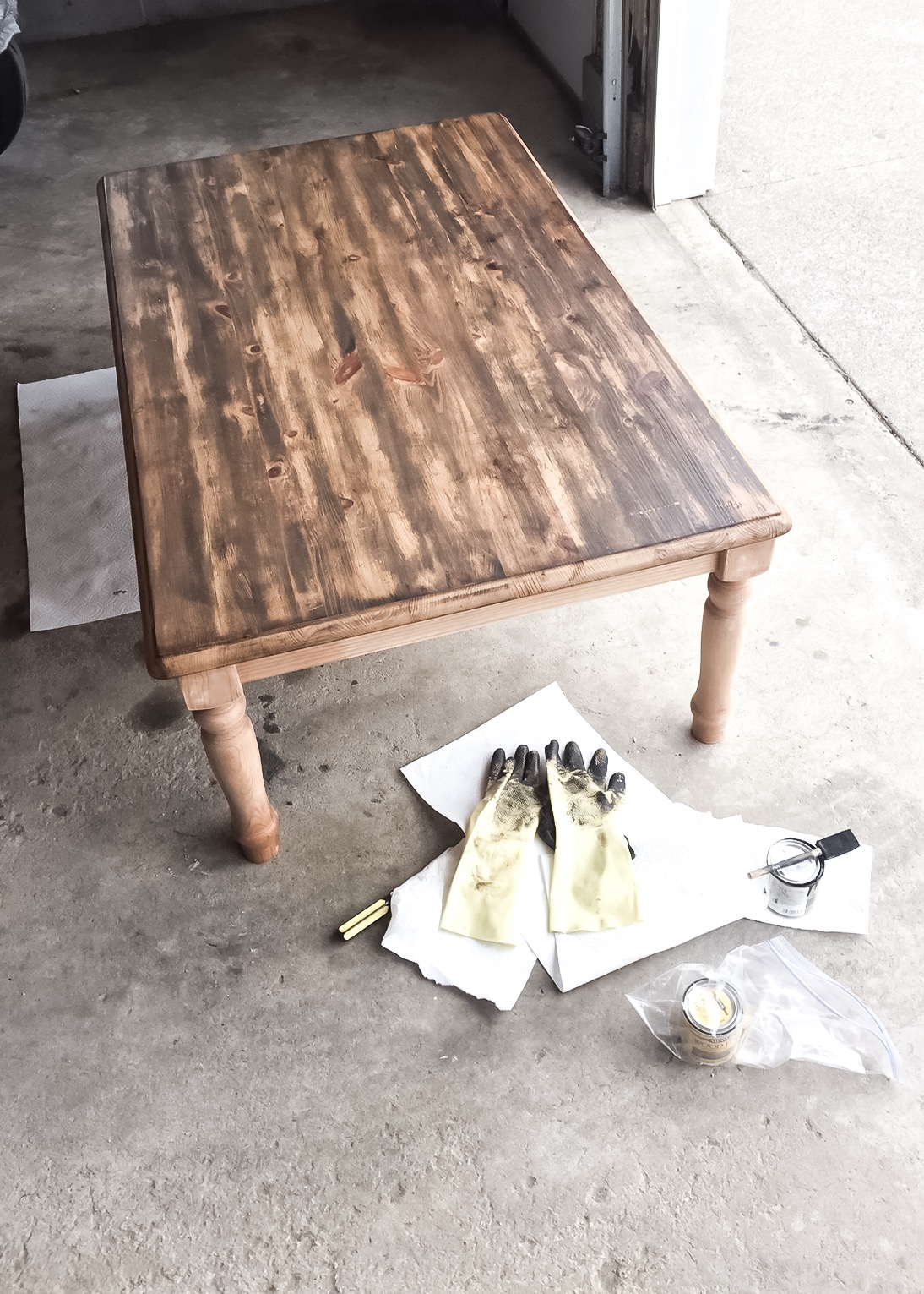 Between the Phases How to Refinish a DIY Farmhouse Coffee Table