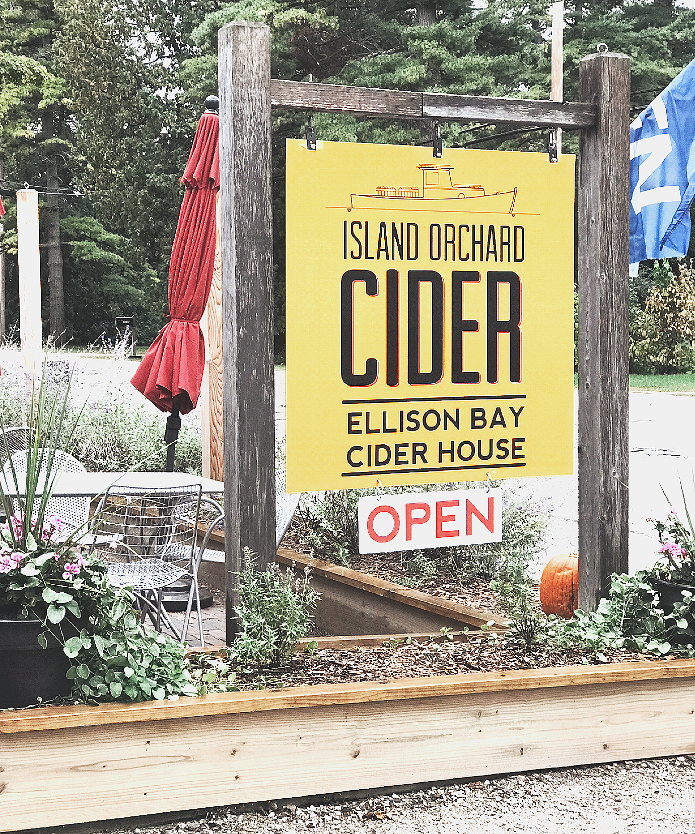Between the Phases Top 12 Travel Destinations in Door County, Wisconsin at Island Orchard Cider in Ellison Bay