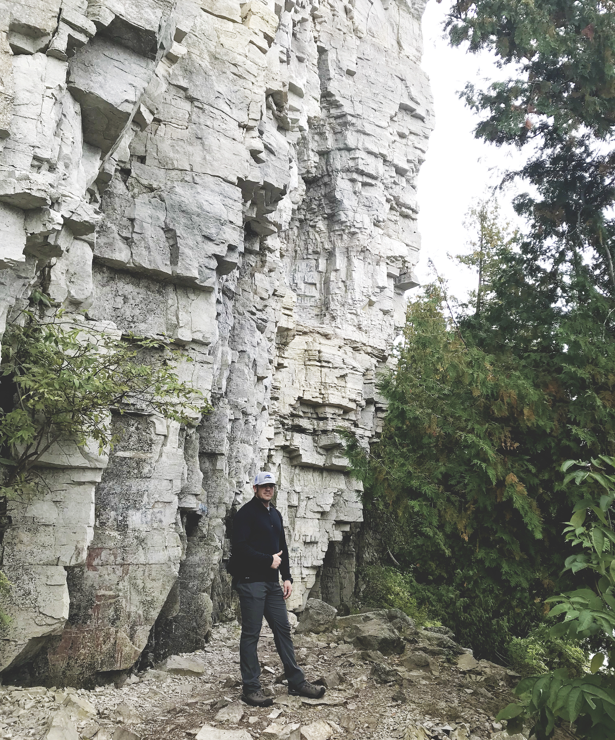 Between the Phases Top 12 Travel Destinations in Door County, Wisconsin at Peninsula State Park on the Eagle trail with 150 foot white cliffs