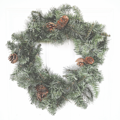simple pine wreath