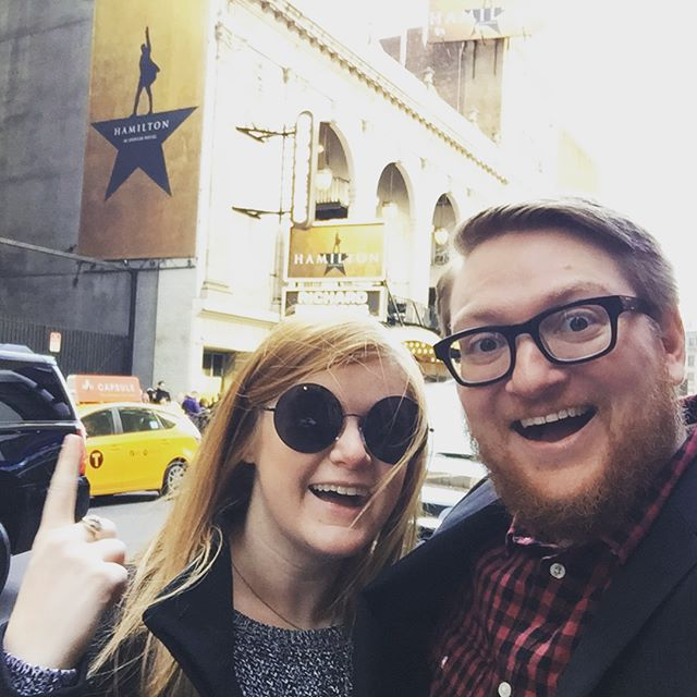 It's not every day you get to see Hamilton, nor is it every day you get to celebrate seven years of marriage with your best friend. Happy anniversary, Chad!