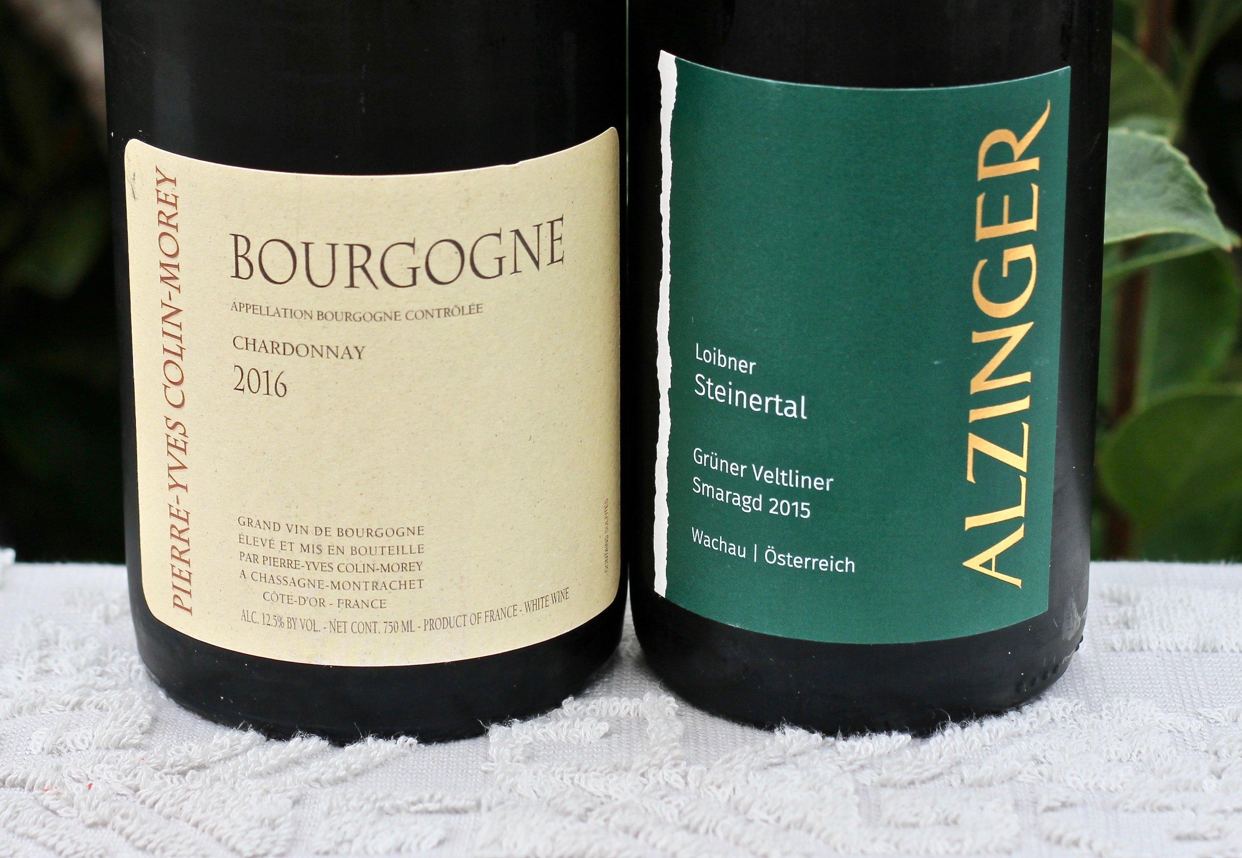 Crisp Whites - 2016 Pierre Yves Colin-Morey Bourgogne Blanc2015 Alzinger Loibner Steinertal Grüner Veltliner Smaragd