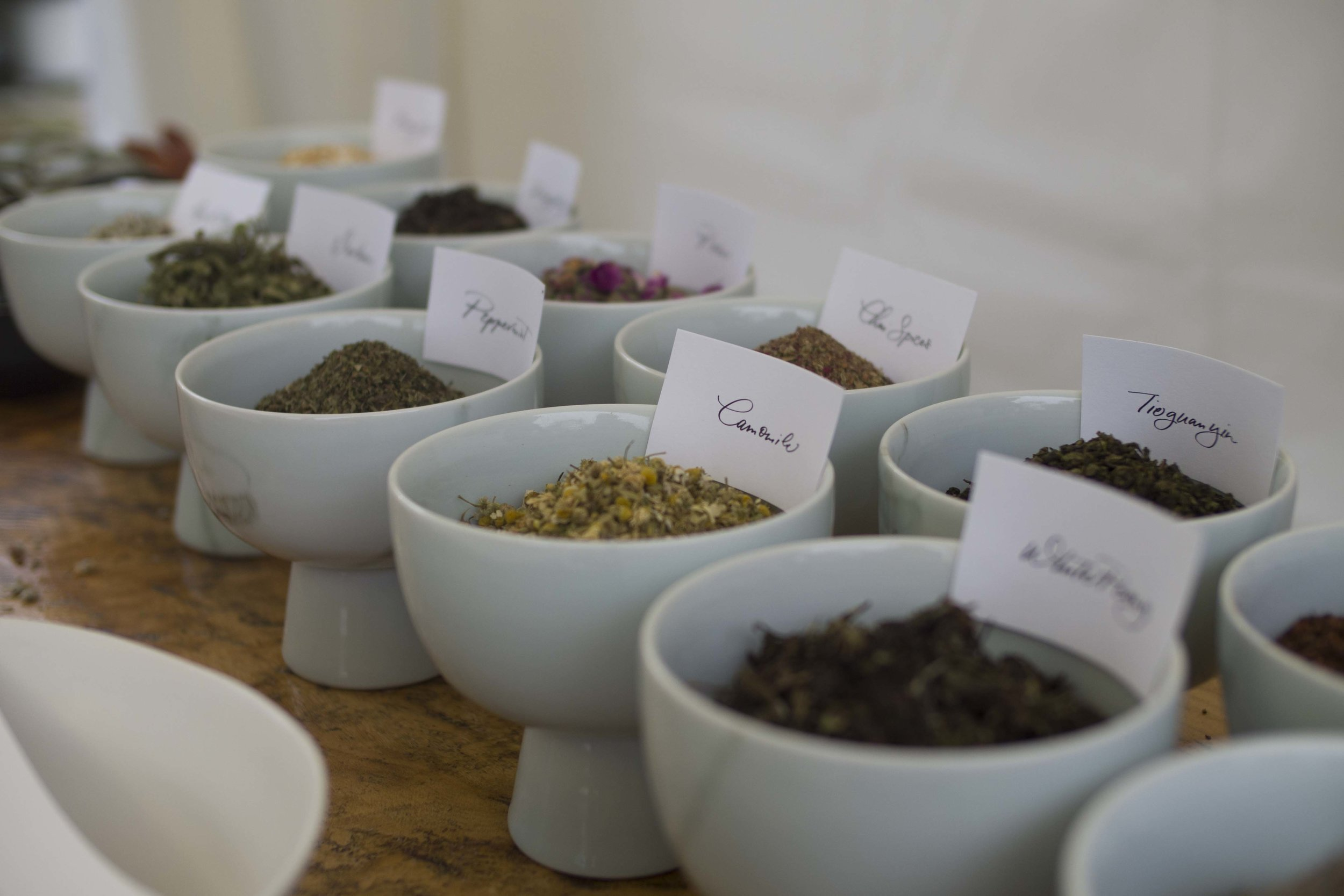 Tea Blending Workshop - This is a hands-on workshop, where participants will get to choose from a variety of teas, herbs and flowers to mix and create their own unique tea blend. They will learn about different types of tea and how they can blend well with others.They will be able to taste their various creations throughout, as well as take home a jar of their very own tea blend at the end. We will also provide a selection of teakha's tea-inspired desserts for guests to enjoy during the workshop.