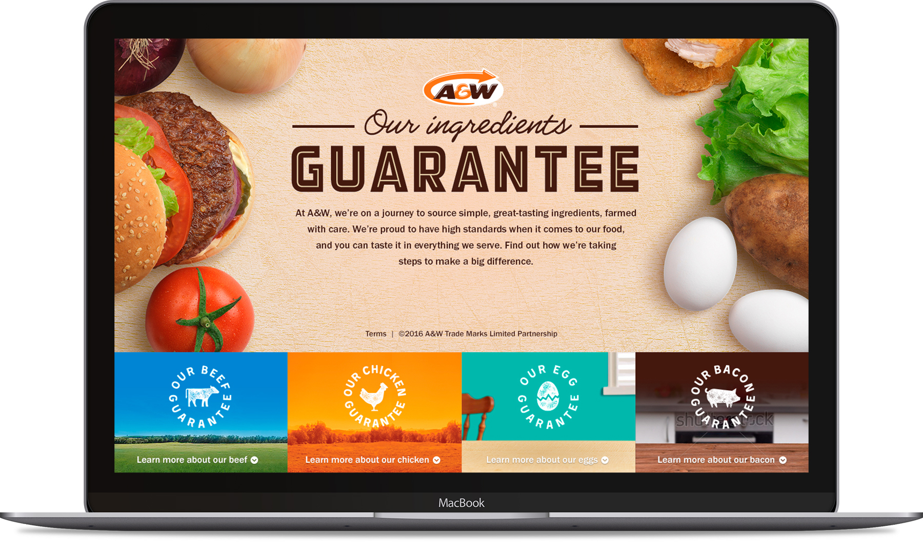 Desktop, A&W's Better Ingredients—Homepage