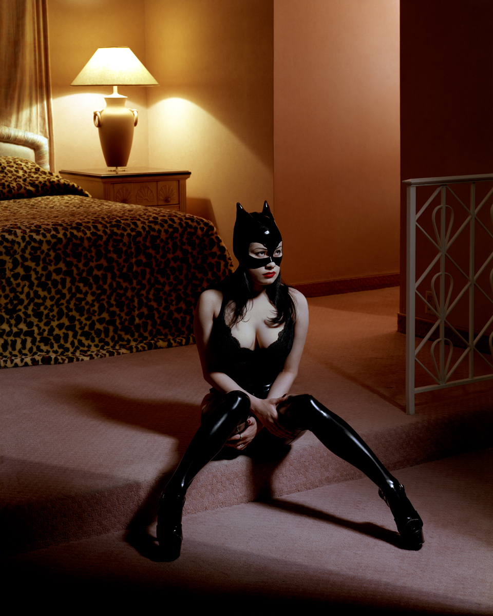 Breaunna in Cat Mask, Las Vegas Hilton, 2001 by Albert Watson  Edition of 10, Archival pigment print  Price on request
