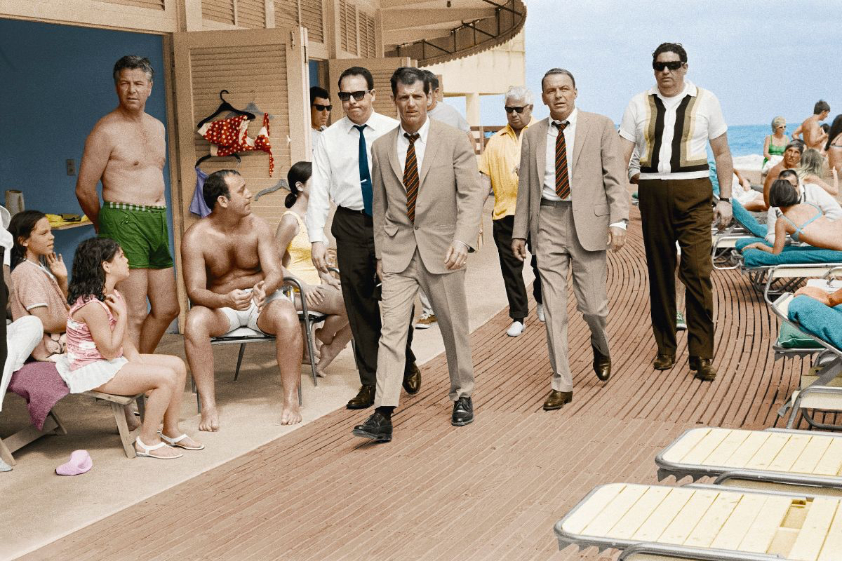 Frank Sinatra Boardwalk, Miami Beach 1968 by Terry O`Neill  Ed 50, C print (also in B&W)  Available in several sizes  Price on request