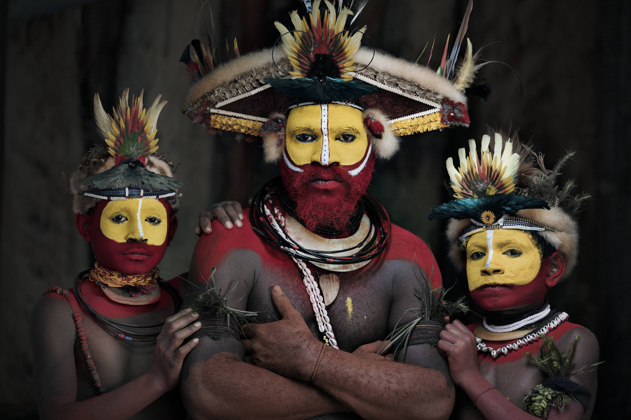 XXXIII 22 - Huli Wigman, Tari, Papua New Guinea, 2017  Homage to Humanity by Jimmy Nelson  Available in 4 sizes. Small editions.  Price on request