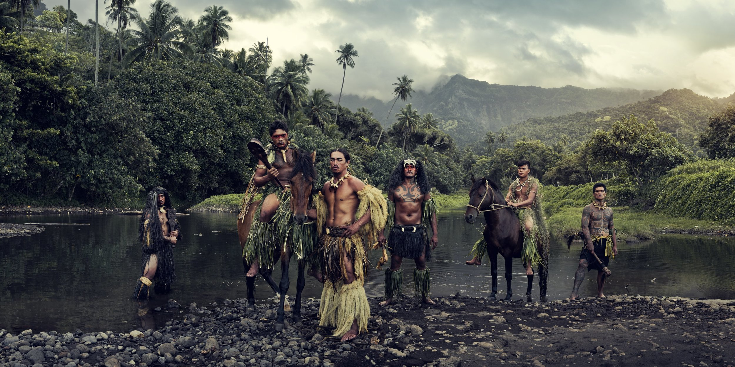 XXVI 16 - Vaioa River, Atuona, Hiva Oa, Marquesas Islands  Homage to Humanity by Jimmy Nelson  Available in 4 sizes. Small editions.  Price on request