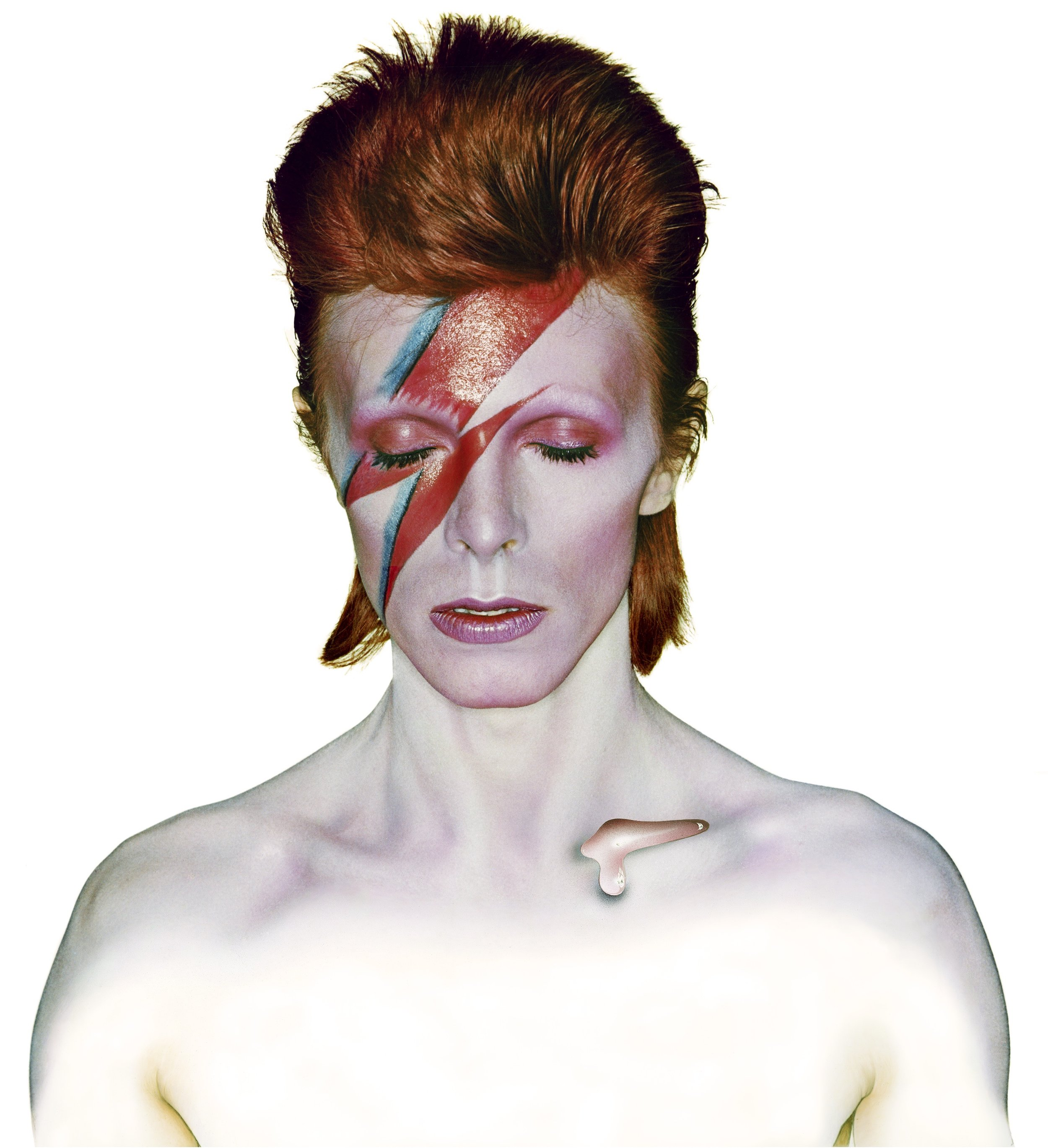 David Bowie - Aladdin Sane, eyes closed by Brian Duffy