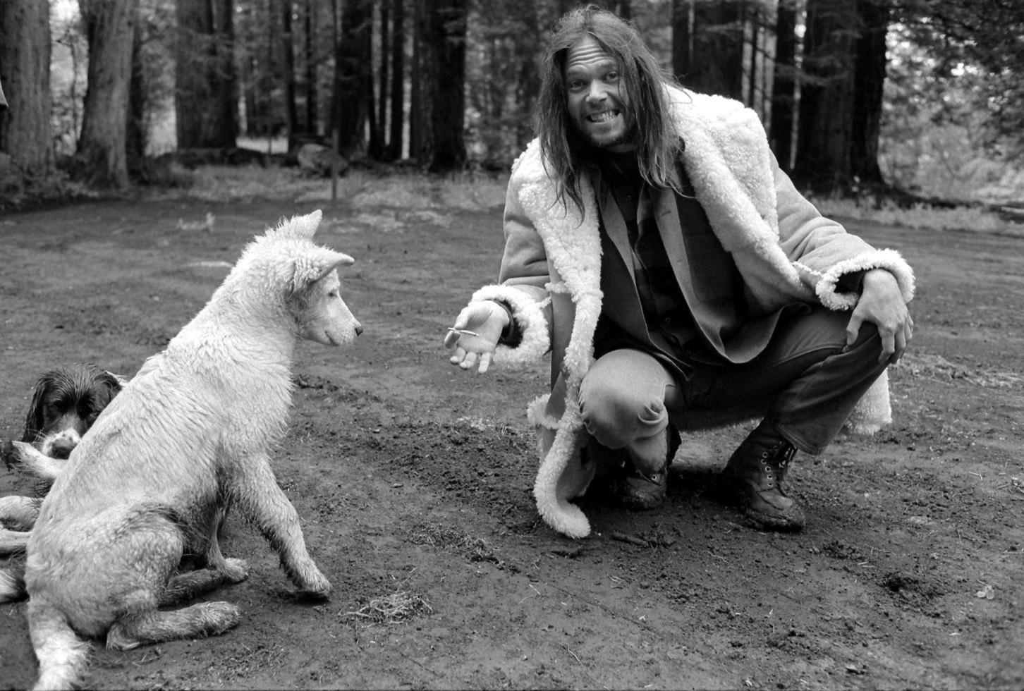 Neil Young and Harte, Redwood City, CA 1971 by Henry Diltz