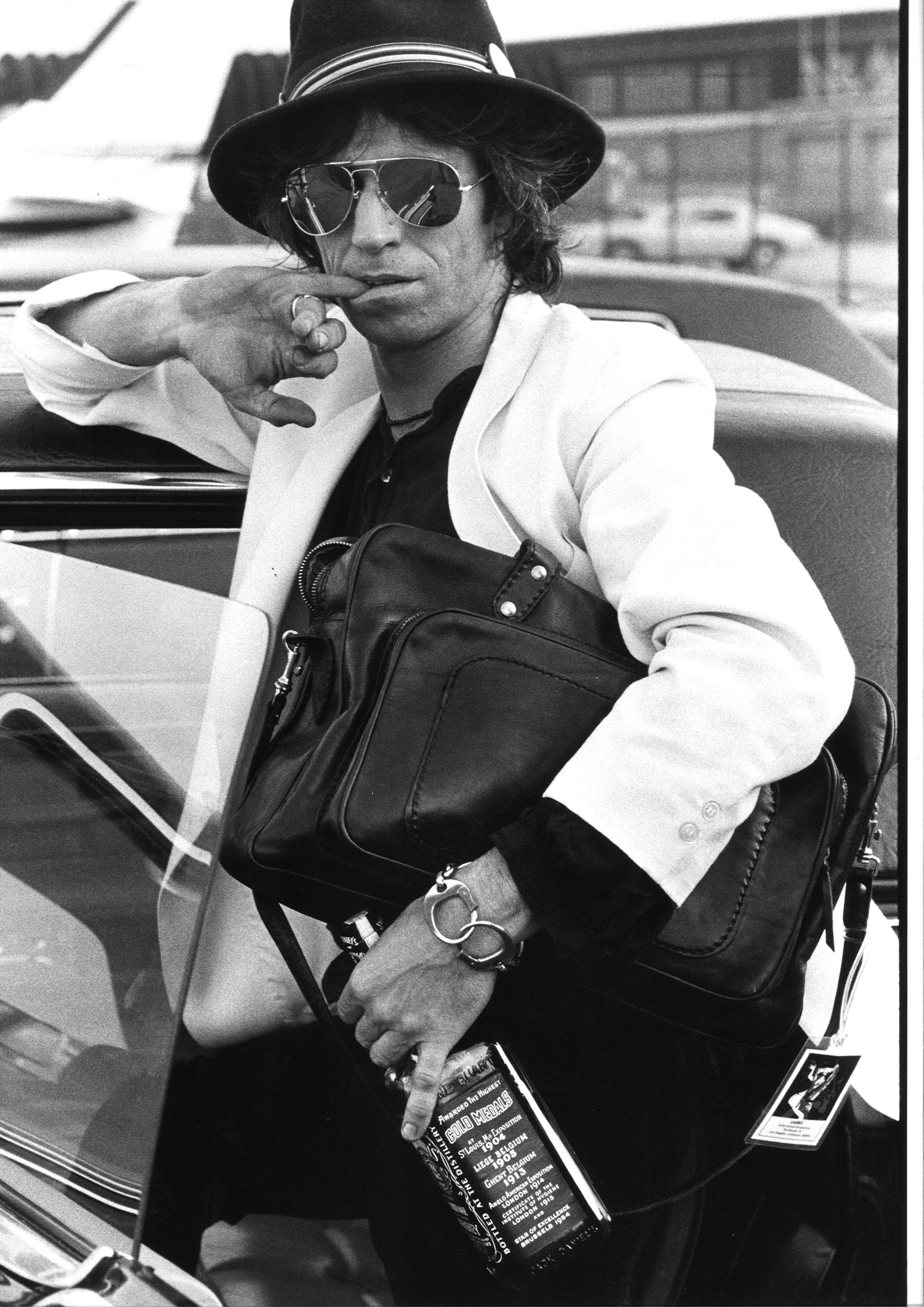 Keith Richards, Midwest Airport 1979 by Henry Diltz