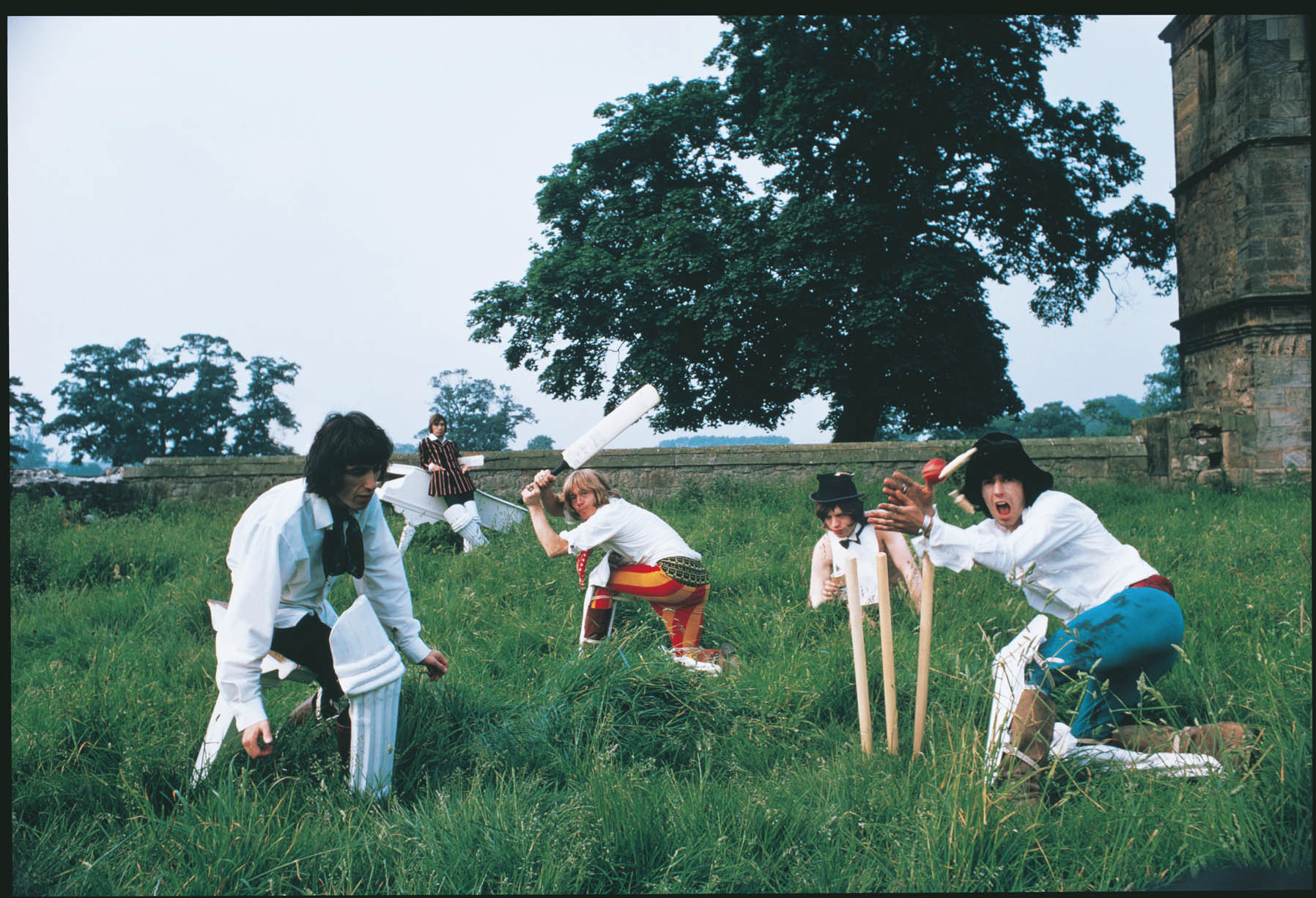 Stones playing cricket by Michael Joseph