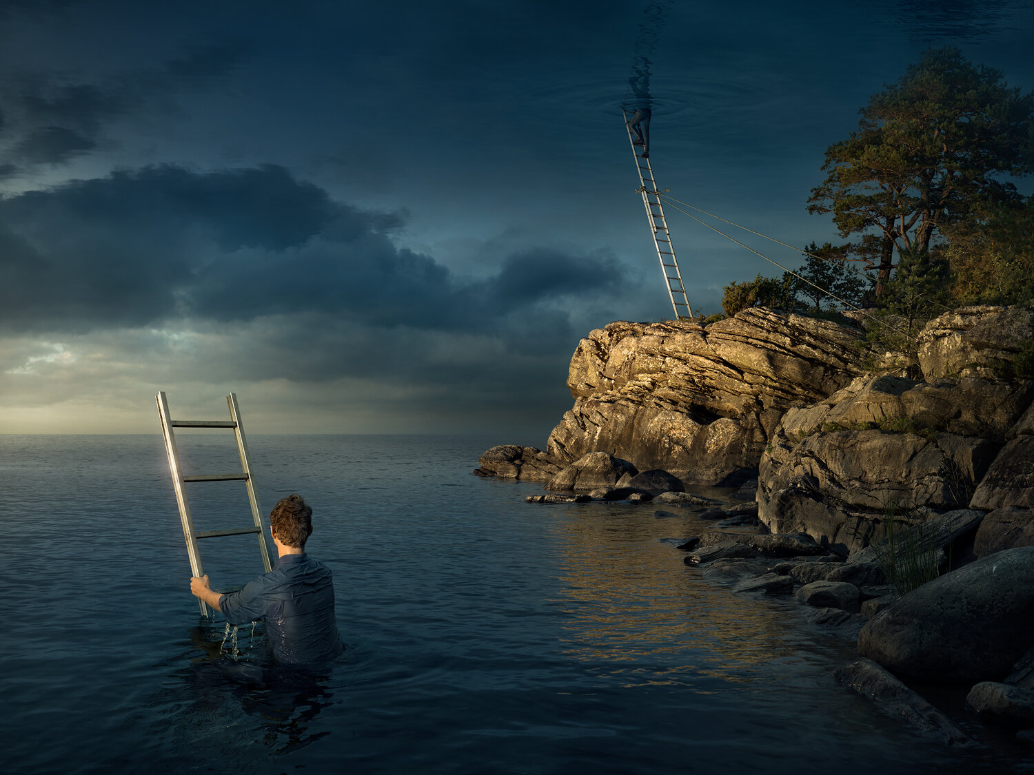 All above the sky by Erik Johansson