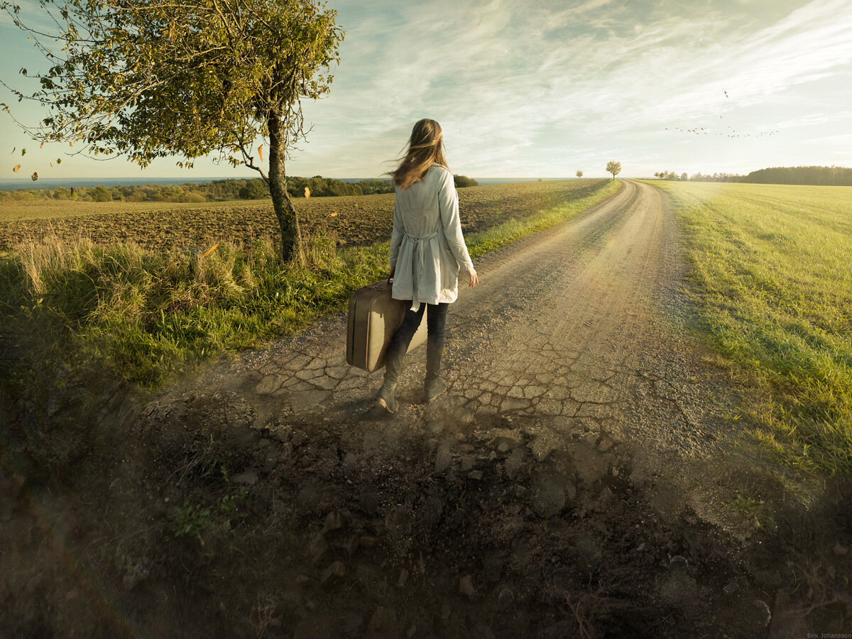 Don't look back by Erik Johansson