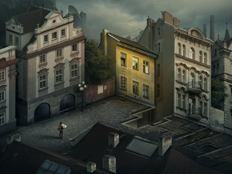 Under the corner by Erik Johansson