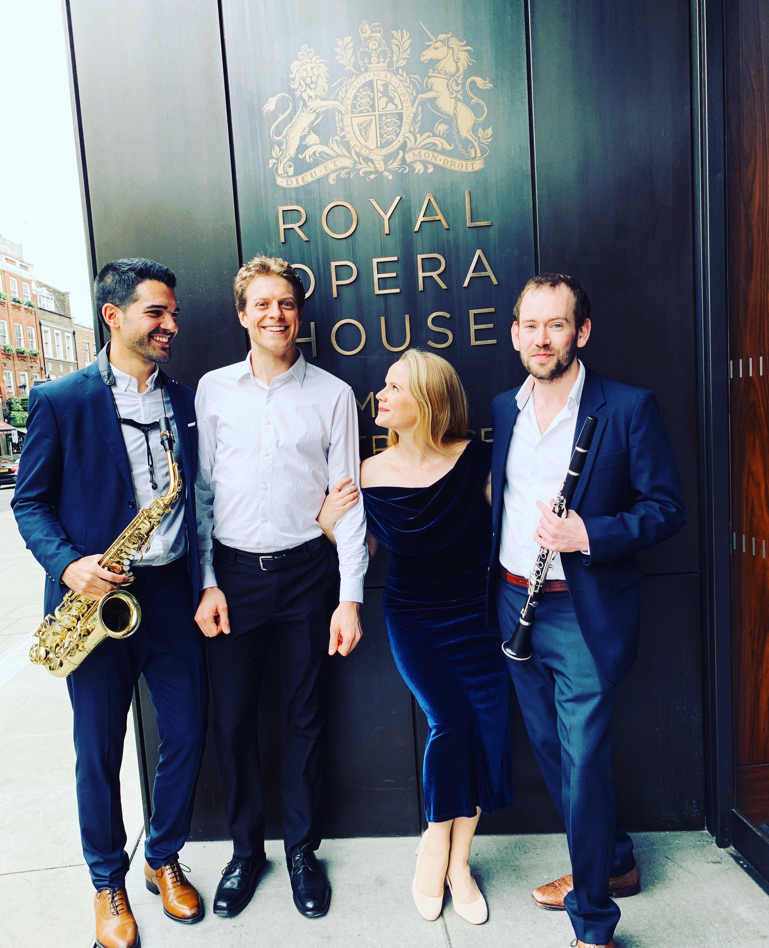 DEBUT at the Royal Opera House, Live at Lunch May 2019, soprano Lizzie Holmes, saxophone Manu Brazo