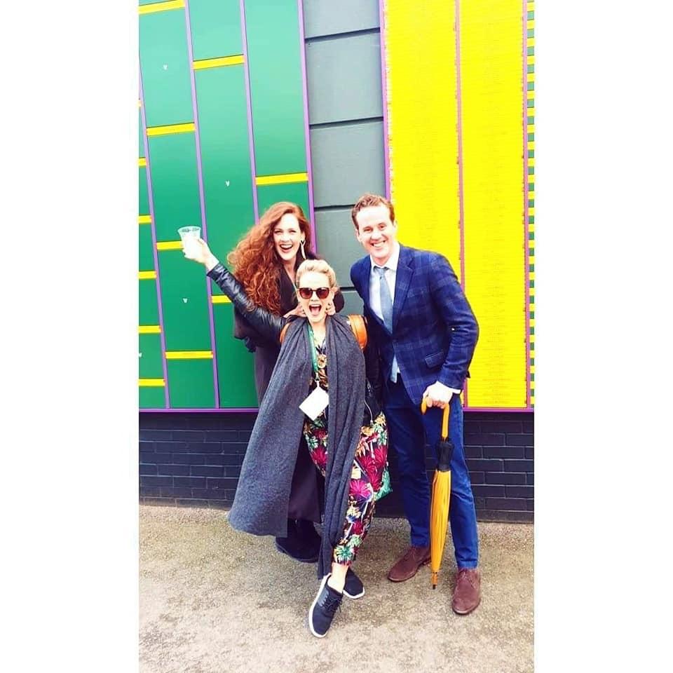 Backstage at Wimbledon, Lizzie Holmes.JPG and Jessica Costelloe.JPG