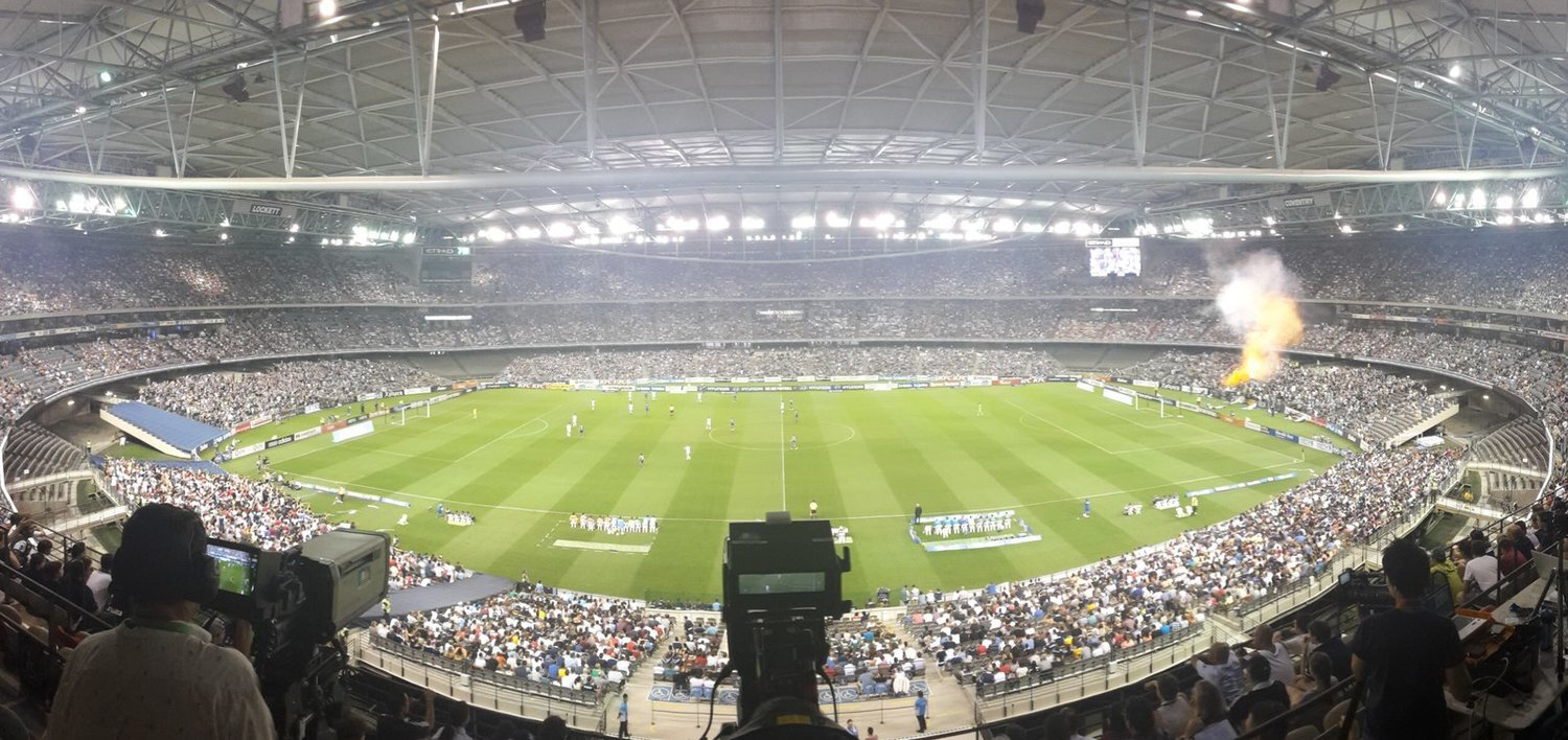 The Docklands Stadium where Melbourne Victory play football