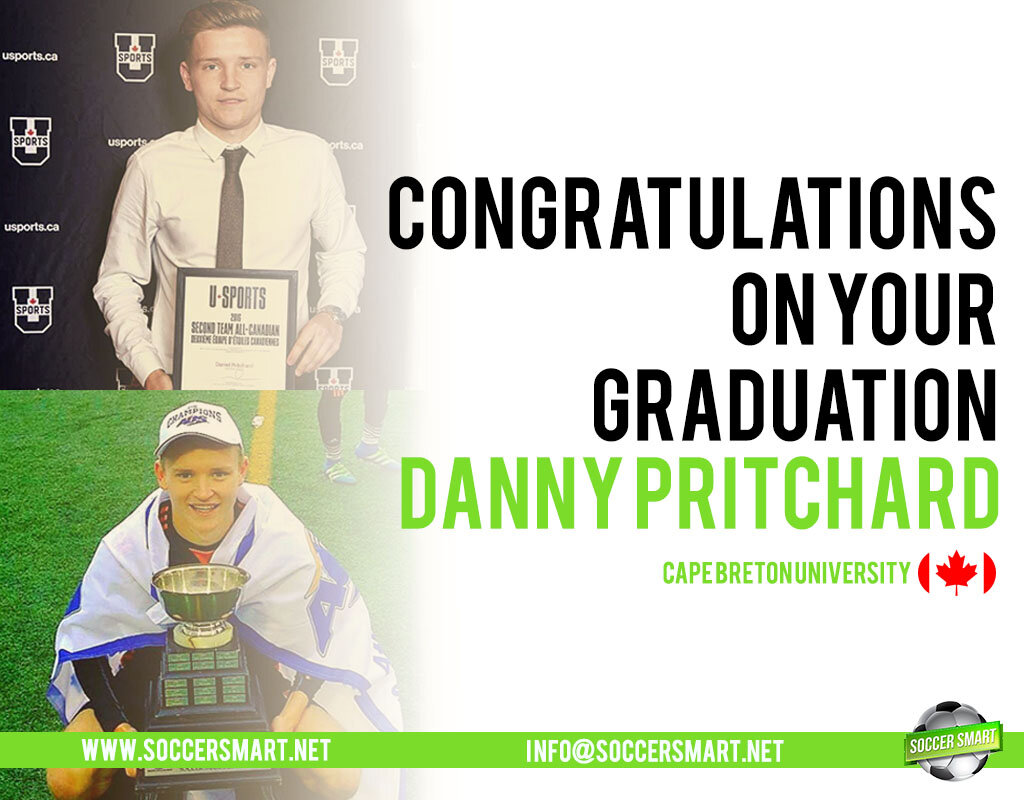 Danny won multiple awards after securing a soccer scholarship
