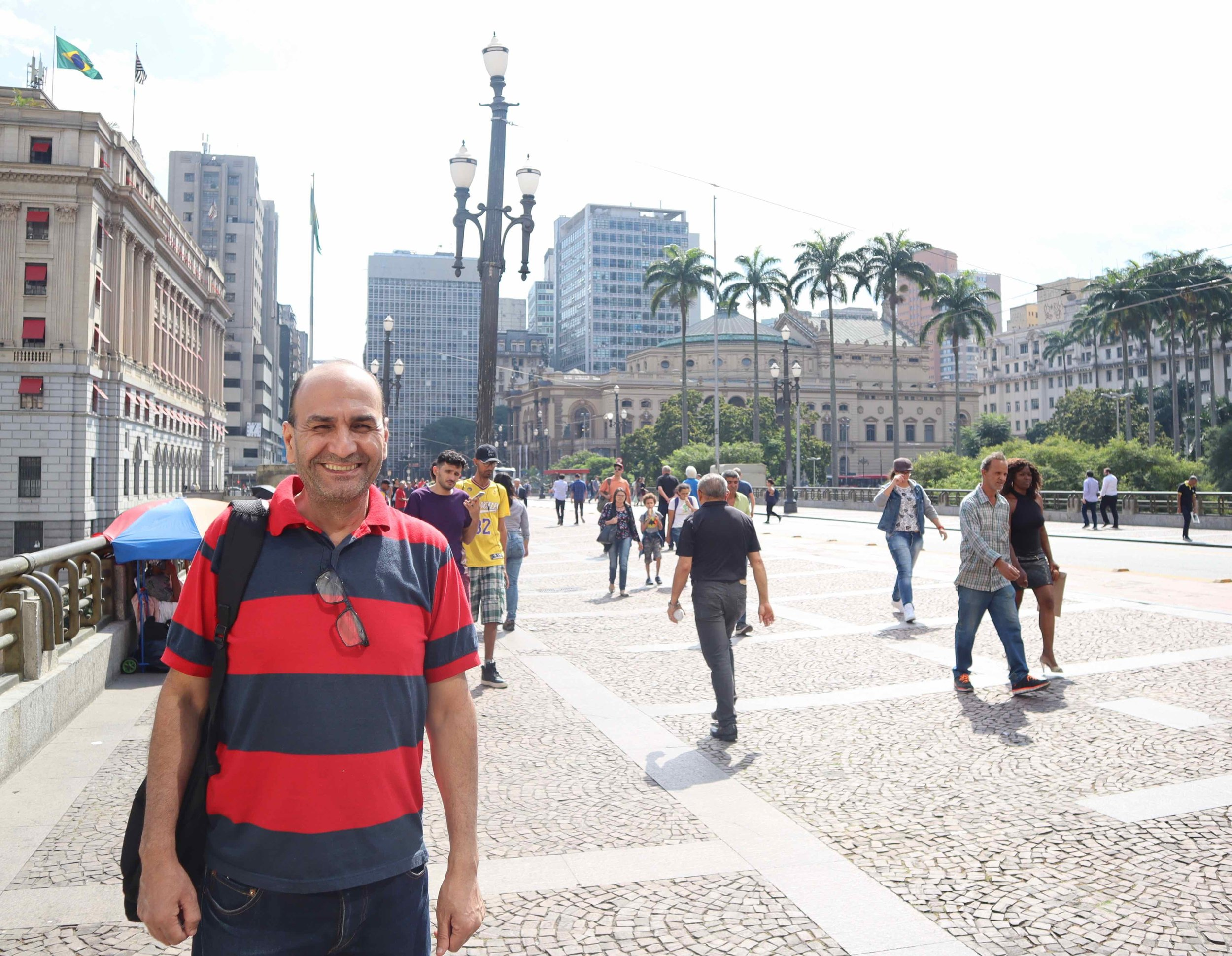 Dr Ahmad Serieh is a renowned Syrian archeologist and museum director who now lives in São Paulo and helps Syrian newcomers to learn Portuguese and settle into Brazilian life.