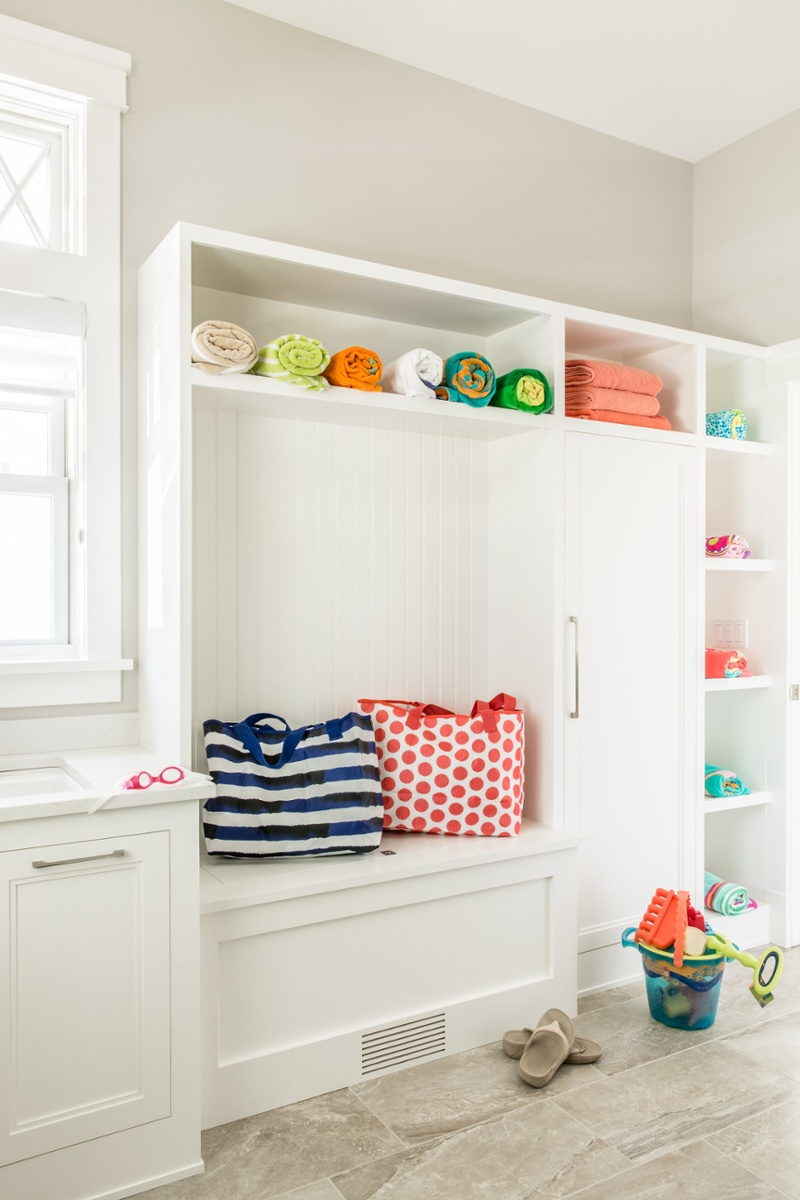 And speaking of muddy, the extra laundry space can be a built-in part of the mud room. Many home owners have been opting to decrease the size of dining rooms and increase the size of mud rooms. It is an area that gets heavy usage year round and often calls for priority during the building stage.