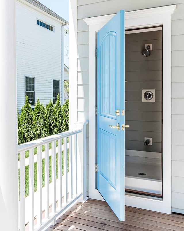 Outdoor showers may get the most use this time of year, but they don't have to be just for summer!