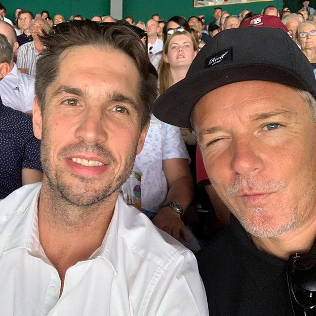 Our two talentscouts @dr_volker_rippmann and @marcustrojan are spotting fresh talents for our young and aspiring club. #tennisfreundeberlin #tennisfreundewimbledon #livingthelife