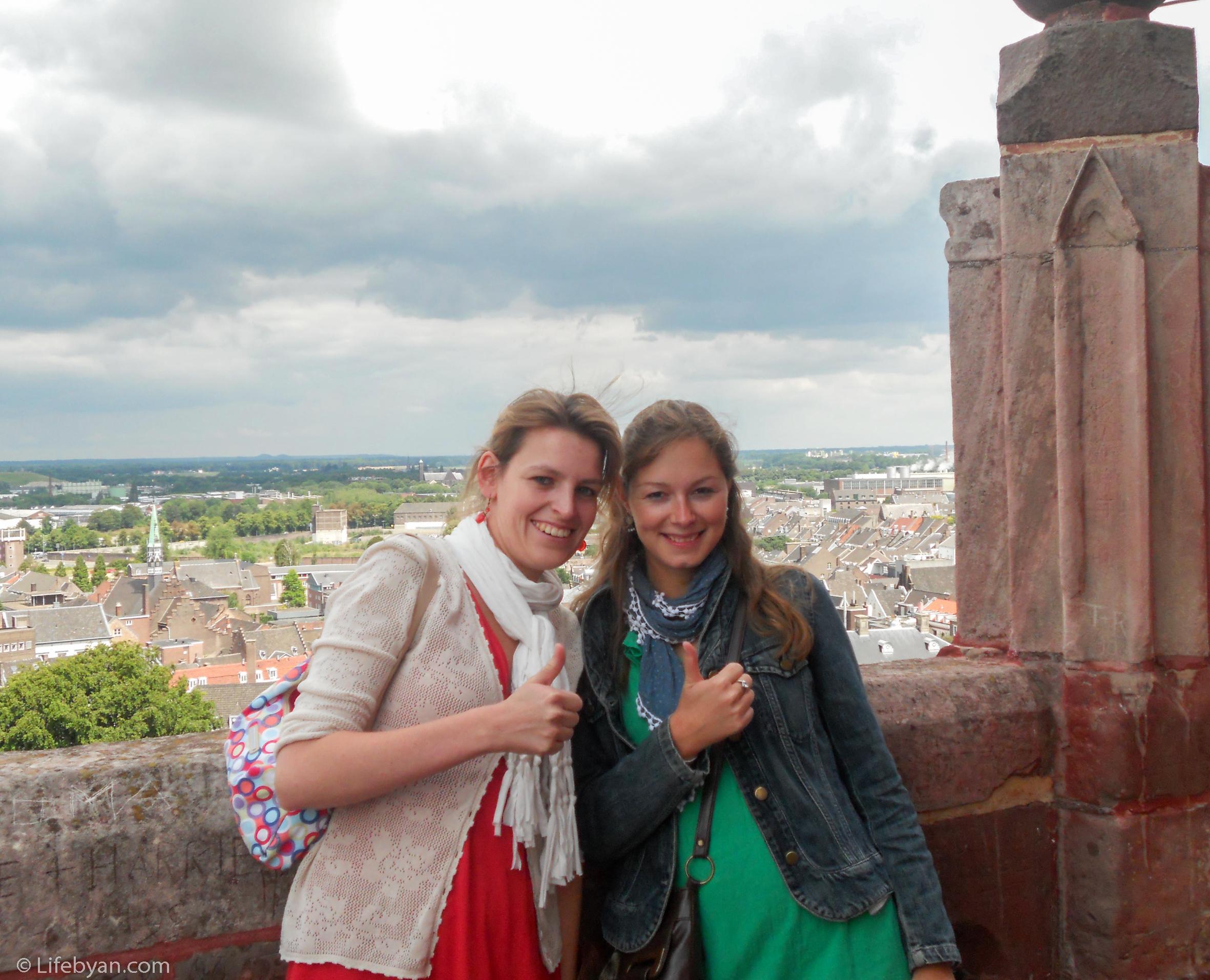 De toren van 80 meter beklommen, thumbs up ;-)