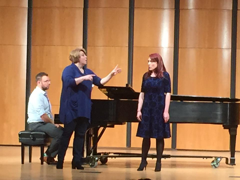 MM student Kathleen Clyborne in MasterClass with Elisabeth Bishop