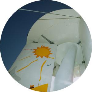 Illustration on wind turbine Switzerland 2007 -