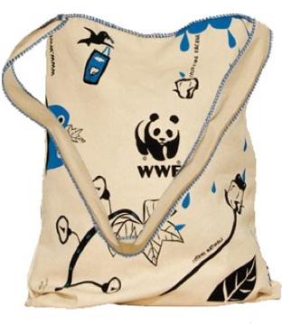 WWF (World Wildlife Foundation) cotton bag illustration -