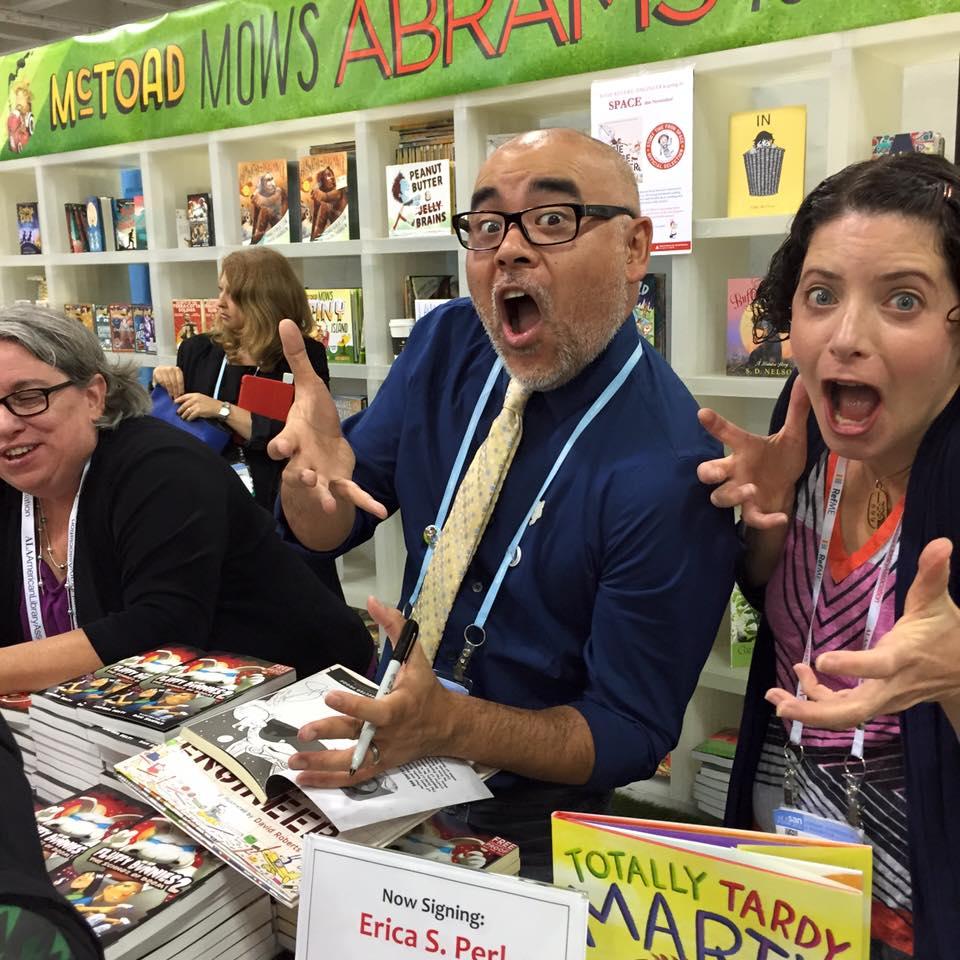 Dan Santat, Erica Perl (and Andrea Beaty!)