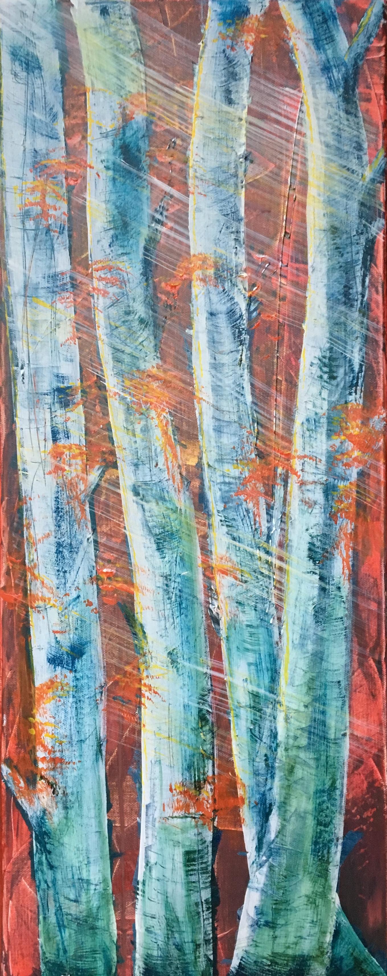 Print 1 - Autumn Trees - Size: 115 x 289